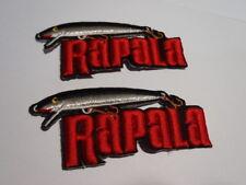 2pcs Rapala Original Lure Embriodary Iron on Cloth Patch Fishing Bags Vest Pouch