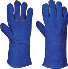 Azul Woodburner Guantes Alta Temperatura Estufa Forrado soldadores Guantes de registro de fuego
