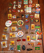 70 McDONALDS PINS BUTTONS DISNEY BATMAN MONOPOLY LOONEY TOONS ADVERTISING