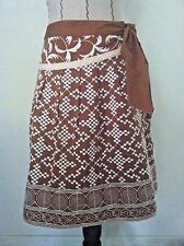 Nanette Lepore 2 women skirt brown white floral embroidery drop pleat aline size