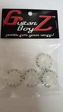 Guitar BoyZ™ Gibson Style Top Hat Knobs Transparent with Black Numerals (4)