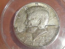 1968-D 50c 40% SILVER KENNEDY HALF DOLLAR ERROR DETACHED LAMINATION 40% DETACHED