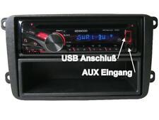 VW Touran ab 2003 Kenwood CD MP3 Radio USB Aux + Blende Einbau Set Kit Autoradio