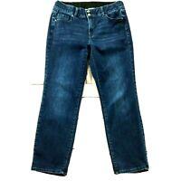 "Lane Bryant Womens Jeans size 16 Short Dark Wash Straight x30""ins Cotton Stretch"