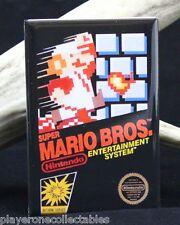 Super Mario Bros. Nintendo Game Box 2 X 3 Fridge Magnet. NES Vintage Video Game