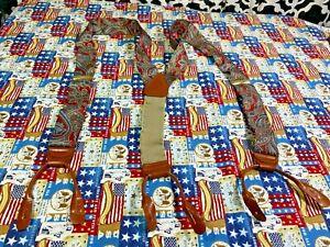 Vintage Brooks Brothers 1818 Red Paisley Suspenders - OSFA