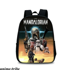 Star Wars Mandalorian Master Yoda Boys Backpack Nylon Travel Bag Kids Schoolbag
