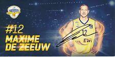 Maxime De Zeeuw  Baskets Oldenburg  Basketball Autogrammkarte signiert 374500