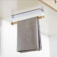 Kitchen Towel Holder Bathroom Toilet Roll Paper Storage Rack Sundries Organizer
