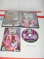GUITAR HERO ENCORE: ROCKS THE 80s game only complete w/ Manual Playstation 2 PS2