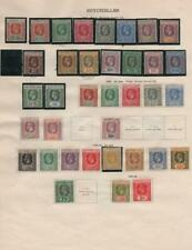 SEYCHELLES/SARAWAK: 1917-1929 - Ex-Old Time Collection - 2 Sides Page (33893)