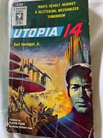 VINTAGE PAPERBACK: UTOPIA 14, kurt vonnegut jr, BANTAM 1st 1954