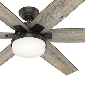 Hunter Fan 64 inch Nobel Bronze Ceiling Fan with Light Kit and Remote Control