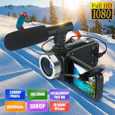 Mini Full 1080P 24MP 18X Zoom 3'' LCD Digital Camcorder Video HDMI Camera Mic