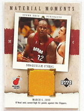 SHAQUILLE O'NEAL 2005-06 UD PORTRAITS MATERIAL MOMENTS LAKERS JERSEY CARD SP