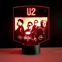 U2 the joshua tree tribute lampada luce notturna Led 3D Acrylic Night Light Lamp
