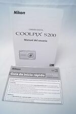Nikon Coolpix S200 digital camera instruction manual 2008 (Spanish version)