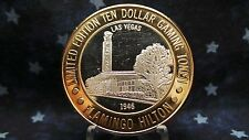 Flamingo Hilton LV, NV Ltd Ed $10 Gaming Token 999 Fine Silver Strike BC 261