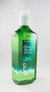 (1) Bath & Body Works Green Vanilla Bean Noel Reindeer Gentle Gel Hand Soap 8oz