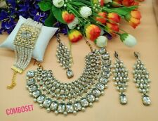 Bollywood-Stil Kundan Braut Halskette Set
