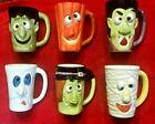 Royal Norfolk Vtg Halloween Vampire Frankenstein Witch Jol Ghost Cup Mug Set