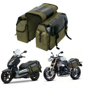 Motorcycle Side Pouch Waterproof Canvas Side Pouch Saddlebags Saddle Panniers