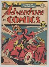 Adventure #80 November 1942 VG- Simon and Kirby Sandman, Manhunter