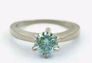 1,10 CTS Blauer Diamant-Ring, 925 Silber, AAA, blue Diamond, Zertifikat