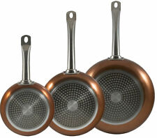 Bergner Professional Set of 3 Copper Frying Pan Set Induction Non Stick