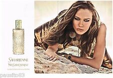 PUBLICITE ADVERTISING 105  2011 YVES SAINT LAURENT eau de toilette SAHARIENNE 2P