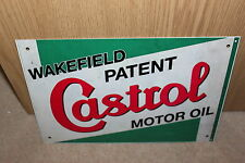 Castrol Motor Oil Wakefield Patent Vintage Metal Sign - NEW
