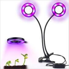 24W Daul Head LED Plant Grow Light Flexible Desk Clip Lamp for Vegetables Fruits