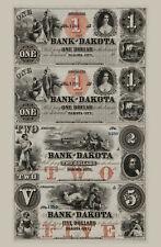 Dakota City, Nebraska- Bank of Dakota $1-$1-$2-$5 - Uncut Sheet COPY