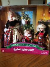 HOLIDAY SISTERS BARBIE KELLY & STACIE 1998 GIFT SET  NIB MINT LAST ONE BEAUTIFUL