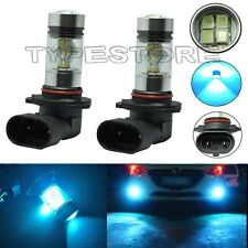 2x 100W H10 8000K 9145 High Power LED CREE  Ice Blue Fog Lights Bulbs