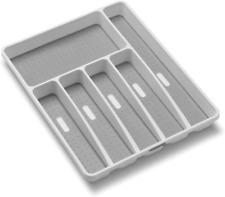 madesmart Classic Large Silverware Tray Kitchen Drawer Organize Large,White