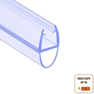 Bath Shower Screen Door Seal Strip for Glass Thickness 4-6mm Seal Gap up to 4mm
