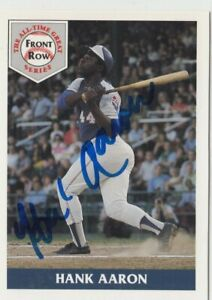 Hank Aaron 1992 Front Row All Time Great Signed Autograph Auto Mint Card #1