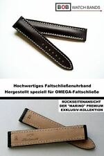- BOB MARINO SATTELLEDERBAND kompatibel mit Omega - Faltschließe BRAUN 20/18 mm