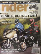 Rider Magazine July 2008 Sport-Touring Twins BMW R1200RT Vs Moto Guzzi Norge 120