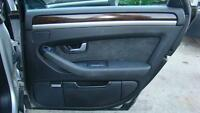 AUDI A8 BLACK RIGHT HAND REAR DOOR TRIM, D3, 09/03-07/10