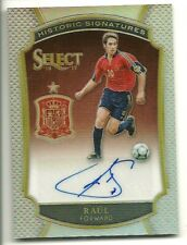 RAUL 2016-17 SELECT HISTORIC SIGNATURES AUTOGRAPH SPAIN GREAT AUTO #/75