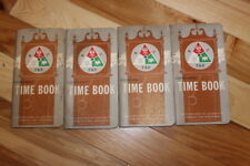 1967 -1968 B L F&E Enginemen's Time Books FOUR Railroad