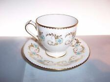BELLISSIMO ROYAL CROWN DERBY BLUE Pimpernel PIEDISTALLO Tazza di Caffè & Piattino
