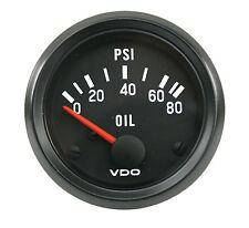 "VDO Oil Pressure Gauge 80 PSI 2 1/16"" VW Bug VW Beetle VW Dune Buggy"