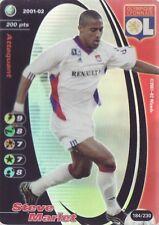 FOOTBALL CHAMPIONS 2001-02 Steve Marlet 184/230 Olympique Lyonnais FOIL