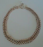 Vintage Ralph Lauren Chunky Chain Necklace Gold Tone Fade Toggle Closure  J