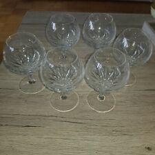 6 wunderschöne Cognacschwenker von Nachtmann, Serie fleurie, Bleikristall, top