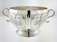 Antique Mexican Spanish Colonial Fine Silver Sugar Caddy Sugar Nut Bowl