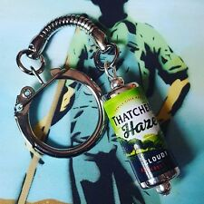 Unique  THATCHERS HAZE CAN KEYRING fab CIDER keychain APPLES west country PUB